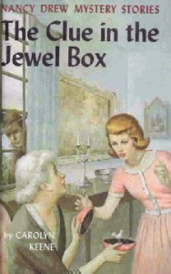 Nancy Drew #20: THE CLUE IN THE JEWEL BOX, ©1943. Artist: Rudy Nappi, ©1962.