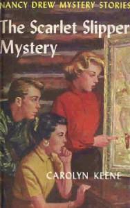 Nancy Drew #32: THE SCARLET SLIPPER MYSTERY, ©1954. Artist: Rudy Nappi, ©1954.