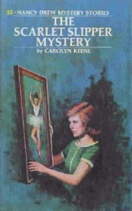 Nancy Drew #32: THE SCARLET SLIPPER MYSTERY, ©1974. Artist: Rudy Nappi, ©1974.