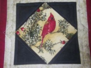 A Picture Quilt - Cardinal View Artist: Julie Domenico, ©2014